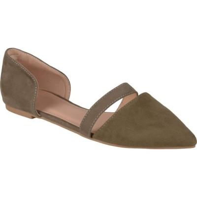 ジュルネ コレクション Journee Collection レディース スリッポン・フラット シューズ・靴 Nita Flat Olive