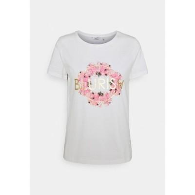 ビーヤング Tシャツ レディース トップス BYSANLA - Print T-shirt - off white/mix