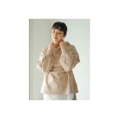 アースミュージックアンドエコロジー earth music&ecology オーガニックコットン裏毛(パーカー) (Beige)