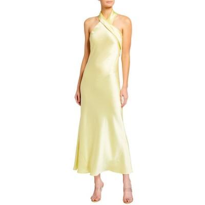 ガルバン レディース ワンピース トップス Pandora Cropped Halter-Neck Dress
