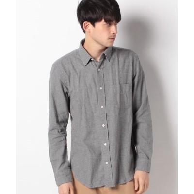 【ベーセーストック】 ビエラシャンブレーネルシャツ メンズ グレーA M B.C STOCK