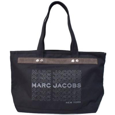 マークジェイコブス バッグ MARC JACOBS キャンバス ユニバーシティ ロゴ ラージ ショルダー トートバッグ ブラック M0016404