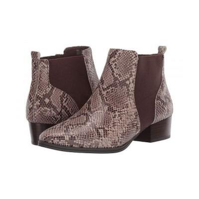 Aerosoles エアロソールズ レディース 女性用 シューズ 靴 ブーツ チェルシーブーツ アンクル Criss Cross - Taupe Snake
