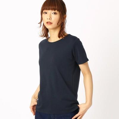 コムサイズム COMME CA ISM ベーシック Tシャツ (ネイビー)