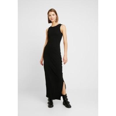 エブンアンドオッド レディース ワンピース トップス Maxi dress - black black