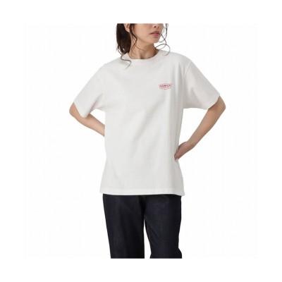 (MAC HOUSE(women)/マックハウス レディース)EDWIN エドウィン ロゴプリント半袖Tシャツ MT5067/レディース ホワイト