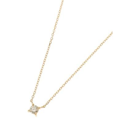 COCOSHNIK(ココシュニック) K18ダイヤモンド爪留め ネックレス