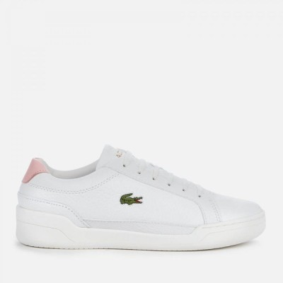 ラコステ Lacoste レディース スニーカー シューズ・靴 Challenge 0120 1 Leather Twin Cupsole Trainers - White/Light Pink White
