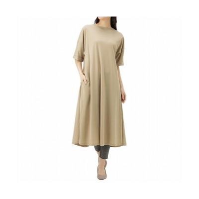 (MAC HOUSE(women)/マックハウス レディース)NAVY ネイビー 裾フレアワンピース MH806-708/レディース ベージュ