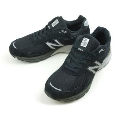 ニューバランス NEW BALANCEスニーカー メンズM990BK4BLACK(ブラック)靴 黒 白 ランニング スポーツ