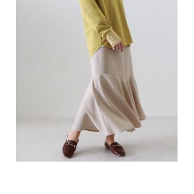 リネンライクヘムラインスカート