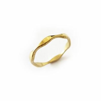 ピンキーリング ステンレス製デザインリング/指輪  ゴールド ステンレスアクセサリー