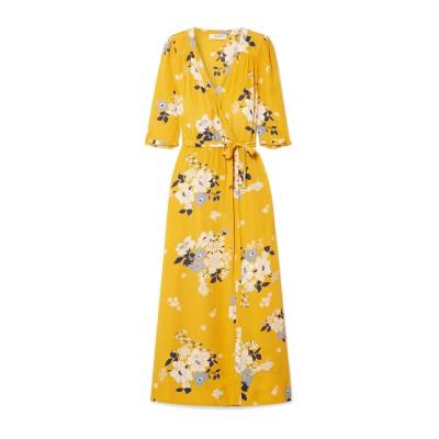 SEA ロングワンピース&ドレス イエロー 10 レーヨン 100% ロングワンピース&ドレス