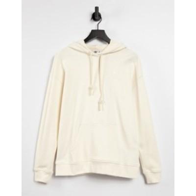 アディダス レディース パーカー・スウェット アウター adidas Originals non-dye logo hoodie Beige