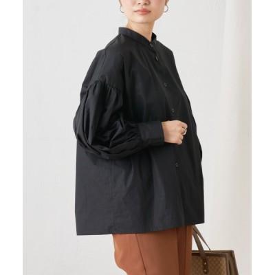 Discoat / 【ZOZO限定】袖ボリュームバンドカラーシャツ WOMEN トップス > シャツ/ブラウス