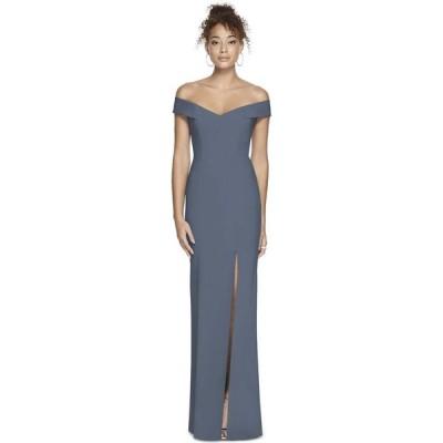 ディシーコレクション Dessy Collection レディース ワンピース マキシ丈 ワンピース・ドレス Off-The-Shoulder Maxi Dress Silverstone Gray