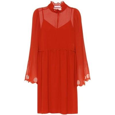 クロエ See By Chloe レディース ワンピース ワンピース・ドレス ruffled georgette dress Earthy Red