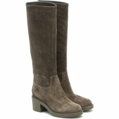 ジャンヴィト ロッシ Gianvito Rossi レディース ブーツ シューズ・靴 Suede Knee-High Boots Dark Olive