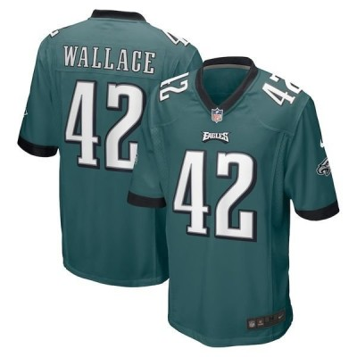 ナイキ メンズ Tシャツ トップス K'Von Wallace Philadelphia Eagles Nike Game Jersey Midnight Green