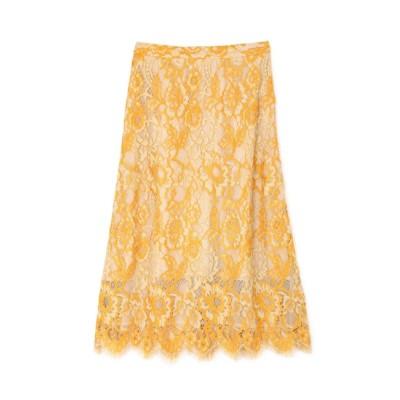 【ローズバッド/ROSEBUD】 配色カラーレーススカート