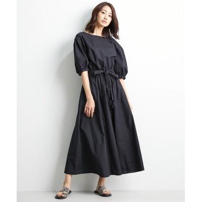 大きいサイズ バックカシュクール5分袖ロングワンピース シックスタイル ,スマイルランド, ワンピース, plus size dress