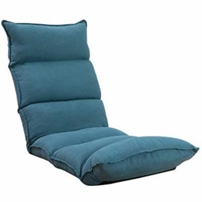 【送料無料】座椅子 フロアチェア 肉厚クッション 低反発ウレタン フロアソファー14段階調整可能(Blue)06BAA