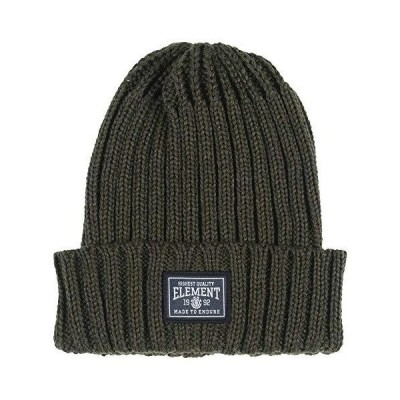 Element Knitted Cuff Beanie ~ Counter olive【並行輸入品】