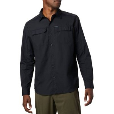コロンビア メンズ シャツ トップス Columbia Men's Silver Ridge 2.0 Long Sleeve Shirt (Regular and Big & Tall) Black