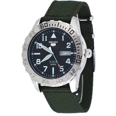 腕時計 セイコー Seiko 5 スポーツ SRP751J2 メンズ Japan グリーン ミリタリー ファブリック バンド オートマチック 腕時計
