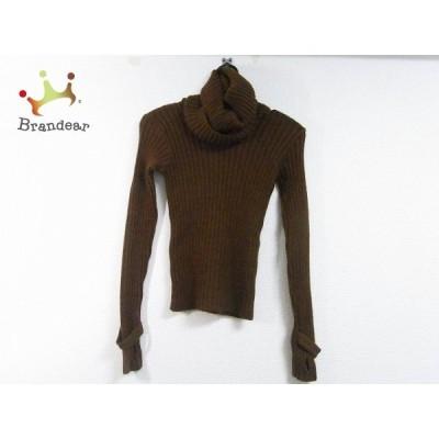 アニエスベー agnes b 長袖セーター サイズ1 S レディース 美品 ダークブラウン 新着 20200326