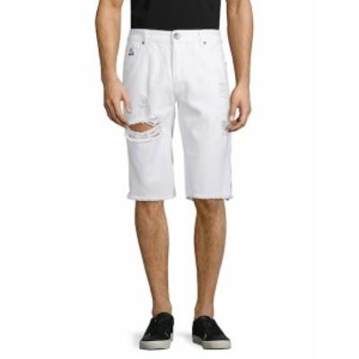 DNM コレクション メンズ ショートパンツ ショーツ Cotton Ripped Denim Shorts