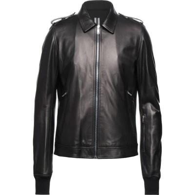 リック オウエンス RICK OWENS メンズ レザージャケット アウター leather jacket Black