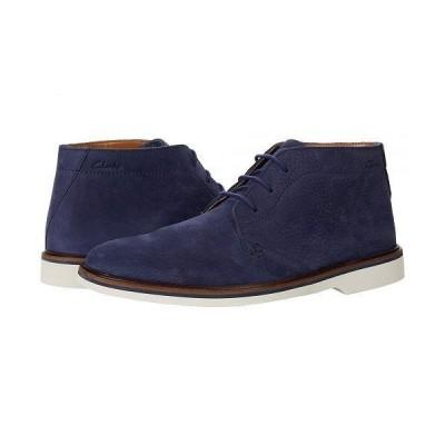 Clarks クラークス メンズ 男性用 シューズ 靴 ブーツ チャッカブーツ Malwood Mid - Navy Nubuck