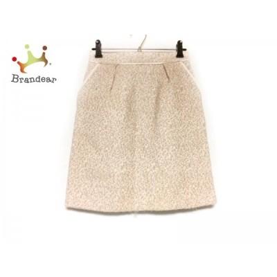 アプワイザーリッシェ スカート サイズ1 S レディース 美品 ベージュ×白×マルチ  スペシャル特価 20210313