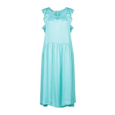 PEPITA 7分丈ワンピース・ドレス ターコイズブルー 42 レーヨン 61% / レーヨン 39% 7分丈ワンピース・ドレス