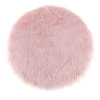 エリアラグ カーペット 子供 遊びマット シートクッション ホーム 装飾 素晴らしい ギフト 5色選べる - ライトピンク