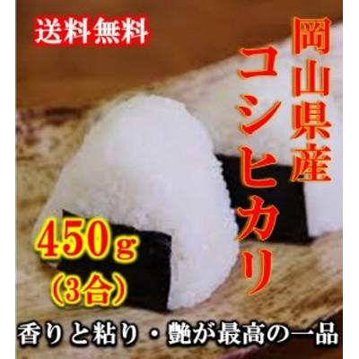 米 ポイント消化 送料無料 食品 米 お試し 令和2年産 岡山県産コシヒカリ 450g(3合)1kg未満 こしひかり