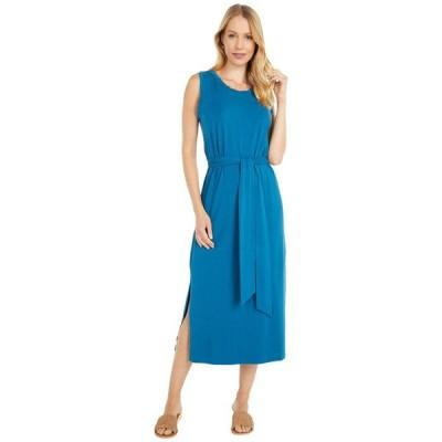 モッドドック レディース ワンピース トップス Cotton Modal Spandex Jersey Belted Tank Dress with Side Slits