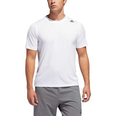 アディダス adidas メンズ Tシャツ トップス Freelift Sport 3-Stripes Short Sleeve T-Shirt White