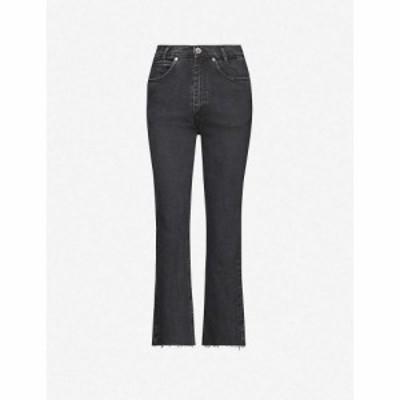 サンドロ SANDRO レディース ジーンズ・デニム ボトムス・パンツ Jayn cropped straight-leg high-rise stretch-denim jeans BLACK