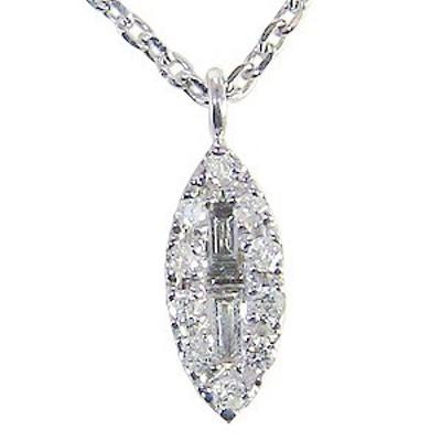 ダイヤモンドペンダント ネックレス ホワイトゴールド ダイヤモンド 0.09ct
