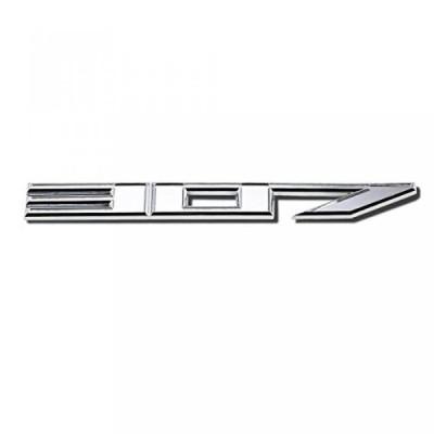 全国配送料無料!DNA EM-L-307-SL - 銀「307」ロゴ金属デカール エンブレム 海外正規流通品 並行輸入品