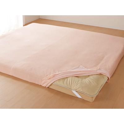 片ポケット式で着脱が簡単パイルシーツ ファミリー160用 ピンク