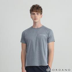 GIORDANO 男裝輕薄涼感拼接圓領T恤 (多色任選)