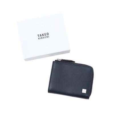 TAKEO KIKUCHI(タケオキクチ)抗菌レザー L字ファスナーミニ財布