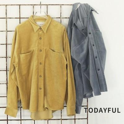 TODAYFUL LIFE's Velour Over Shirts 12020412 ベロアシャツ