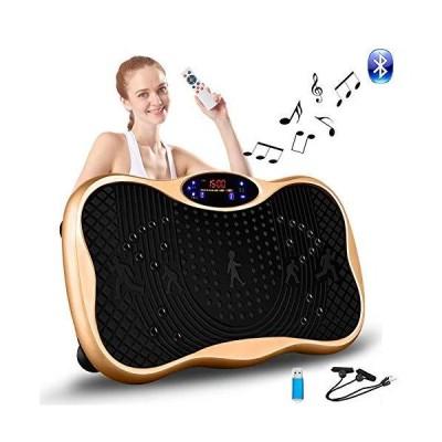 2021最新版 振動マシン 3D振動 5種類のプログラムモード 振動調節99段階 Bluetooth 音楽プレイヤー機能付 筋力トレ