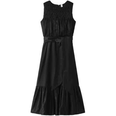 Merlette マーレット ELDONハンドスモックロングドレス レディース ブラック XS