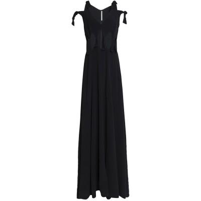 ロゼッタ・ゲッティ ROSETTA GETTY ロングワンピース&ドレス ブラック 0 レーヨン 100% ロングワンピース&ドレス