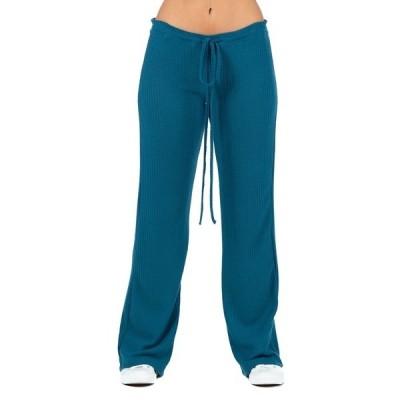 24セブンコンフォート カジュアルパンツ ボトムス レディース Women's Plus Size Waffle Fabric Drawstring Lounge Pants Teal
